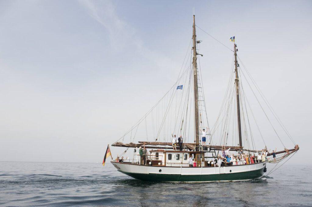 Kieler Woche mit einem Traditionssegelschiff